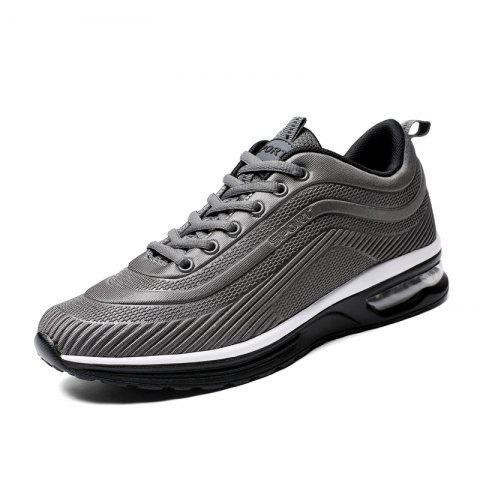 Lace Up Casual Running Shoes Sneakers for Men - DARK GRAY EU 44