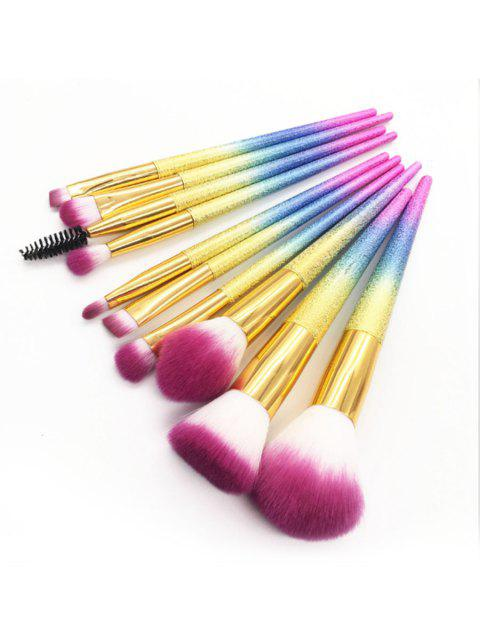10Pcs 3D Makeup Brushes Set Cosmetic Foundation Powder Blend Eye Shadow Lash Lip Make Up Brush Maquiagem Beauty Tool Kit - Fantastique