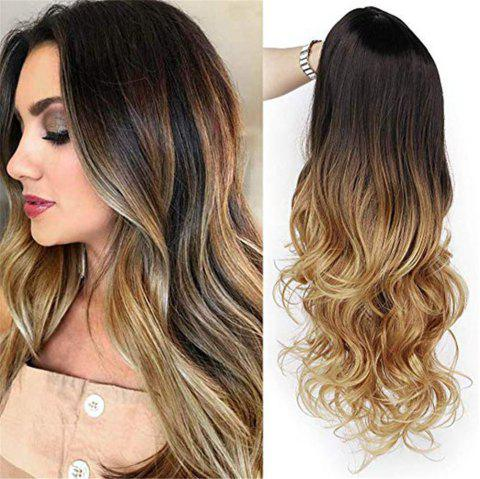 Orgshine Long Wave Black  Blonde Ombre Wig Synthetic Hair  Wigs for Sexy Fashional Women Cosplay/Party- LC136 - multicolor 26INCH
