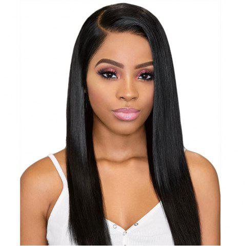 Orgshine Long Straight Black Color Synthetic Wigs Side Part Wig 24inch - NATURAL BLACK 24INCH