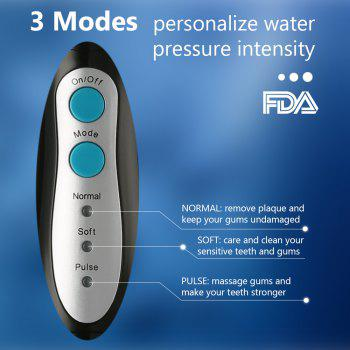 COZZINE Portable Dental Water Flosser - BLACK/BLUE BLACK/BLUE
