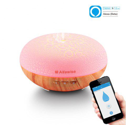 Alfawise SJ - 07C Humidifier Essential Oil Diffuser - LIGHT WOOD US PLUG (2-PIN)