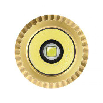 zanflare F6s Cree XP-G2 200Lm EDC Lampe de Poche Rechargeable - Or Jaune 6000 - 6500K