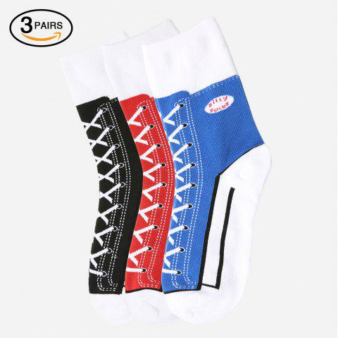 Sneaker Silly Socks 3 Pairs - COLORMIX ONE SIZE