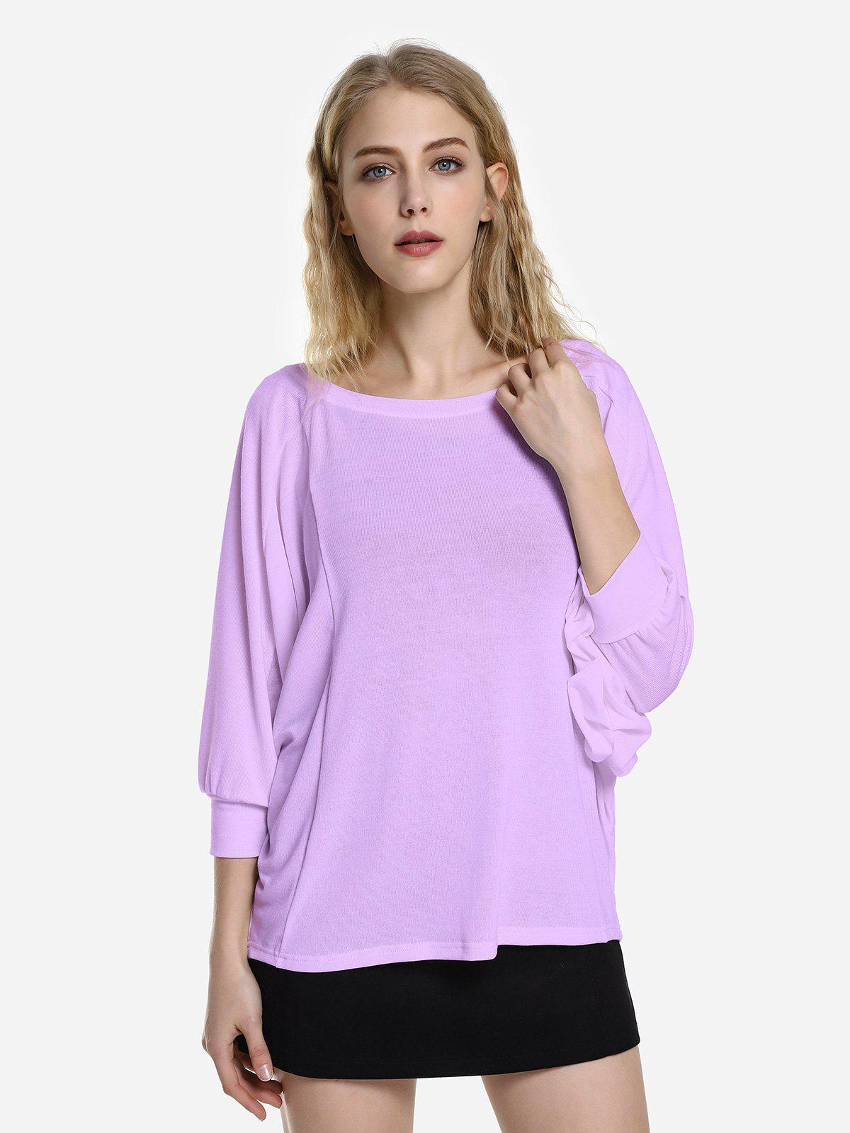ZAN.STYLE Dolman Sleeve Top - PURPLE XL