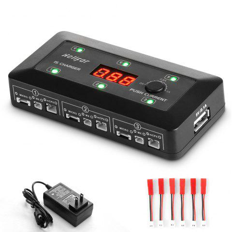 helifar UP - S6 1S Lipo Battery Balance Charger - BLACK A PLUG TYPE A