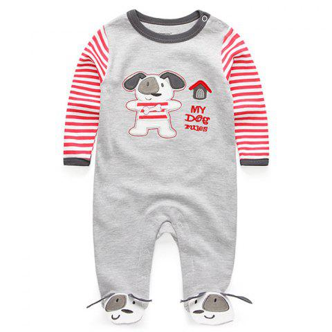 KIDDIEZOOM Boy Girl Long Sleeve Jumpsuit - multicolor E 3 - 6 MONTHS