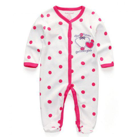 KIDDIEZOOM Boy Girl Long Sleeve Jumpsuit - multicolor A 0 - 3 MONTHS