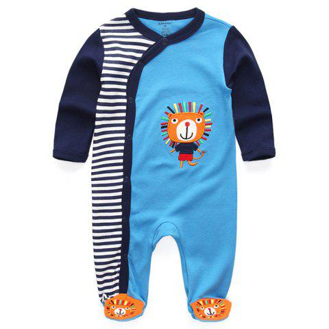 KIDDIEZOOM Boy Girl Long Sleeve Jumpsuit - multicolor I 3 - 6 MONTHS
