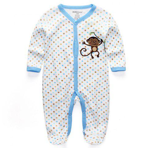 KIDDIEZOOM Boy Girl Long Sleeve Jumpsuit - multicolor B 9 - 12 MONTHS
