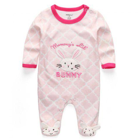 KIDDIEZOOM Boy Girl Long Sleeve Jumpsuit - multicolor G 0 - 3 MONTHS