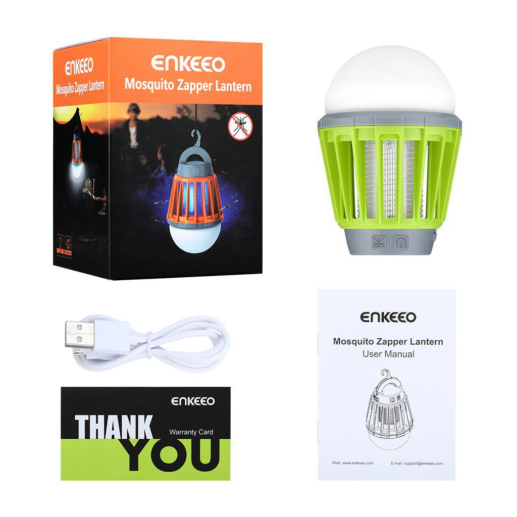 Enkeeo Camping Lantern with Mosquito Killer - GREEN