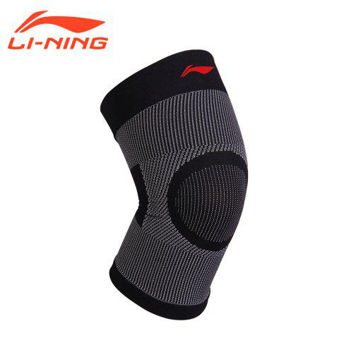Li-Ning Unisex  Knee Pads Professional Support 78% Nylon 22% Spandex Comfort Super Light Kneepad ADEM002-1 - BLACK WHITE M