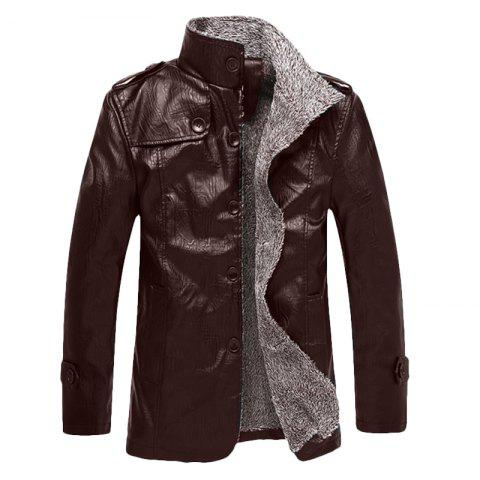 2017 New Autumn and Winter Men's Casual Pu Leather Jacket