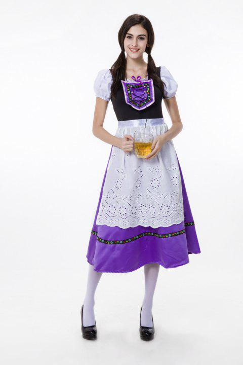 Cosplay Costumes / Party Costume Maid Costumes / Oktoberfest/Beer Festival/Holiday  Halloween Costumes - PURPLE XL