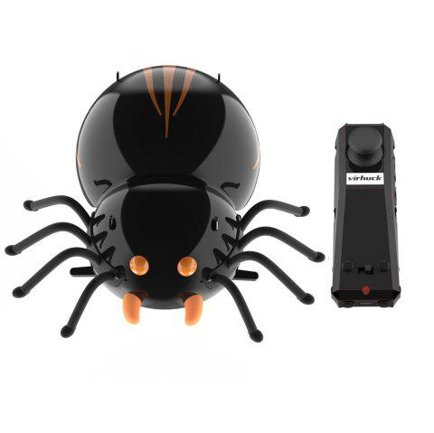 DIY F10 Spider  RC Cars Intelligent Remote Insect Robot  Kits Radio Control Cartoon Toys Remote Truck Toys Best Gift for Kids With 2.4Ghz Remote Control Electronic Car with Battery - NATURAL BLACK