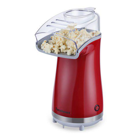 Excelvan Air-pop Popcorn Maker Makes 16 Cups of Popcorn, Includes Measuring Cup and Removable Lid Red - RED US