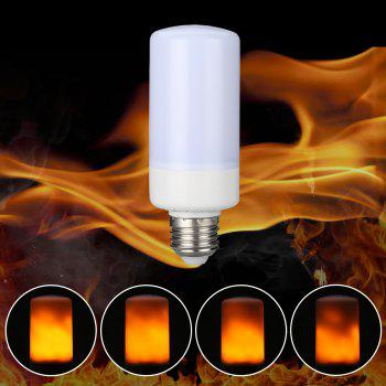 Lampwin LED Flame Effect Fire Light Bulbs,Creative Lights with Flickering Emulation,Vintage Atmosphere Decorative Lamps, Simulated Nature Gas Fire in Antique Hurricane Lantern,1 Pcs - WHITE WHITE