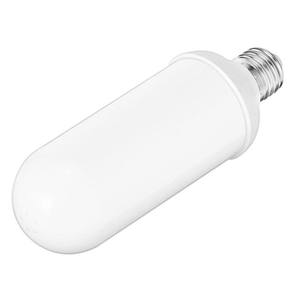 Lampwin Flame Effect Fire Light Bulb, 2 Modes E26 E27 LED Flame Effect Lamp Fire Flickering Bulb for Christmas/ Outdoor Garden/ Hotel/ Bars/ Home Decoration - WHITE 1400-1500K
