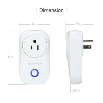 Floureon Smart Wi-Fi Socket Smart Control Plug Outlet for Smartphone Andriod IOS Compatible with Google home & Alexa US Plug - WHITE US