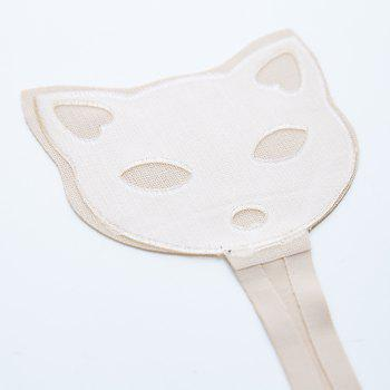 Invisible Panty Cat Pattern Self Adhesive C-String Strapless Panties - SKIN COLOR M