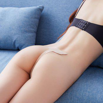 Invisible Panty Cat Pattern Self Adhesive C-String Strapless Panties - SKIN COLOR XL