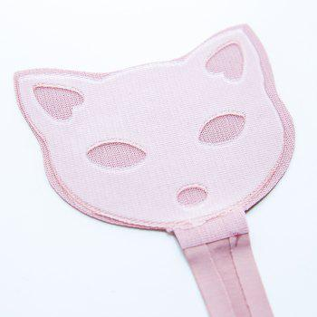 Invisible Panty Cat Pattern Self Adhesive C-String Strapless Panties - PINK M