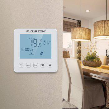 Floureon Electric Heating Thermostat White Backlight LCD Display Temperature controller HY08WE-4 - MILK WHITE