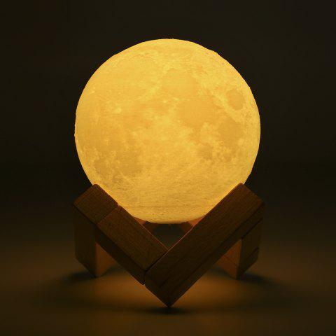 Lampwin Rechargeable 3D Print Moon Lamp 8cm 2 Color Change Touch Switch Bedroom Bookcase Night Light Home Decor Creative Gift - WHITE 8CM