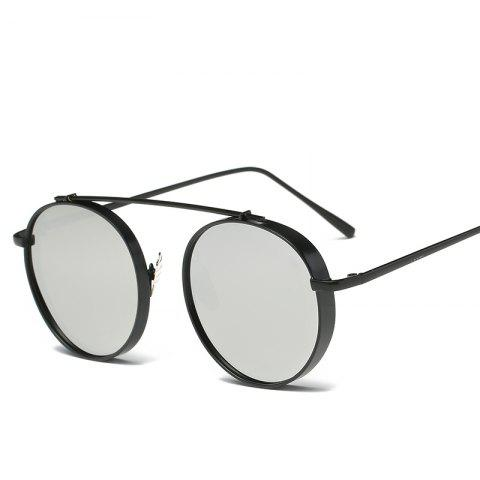 Round Metal Sunglasses Steampunk Men Women Fashion Glasses Brand Designer Retro Vintage Sunglasses UV400 - BLACK