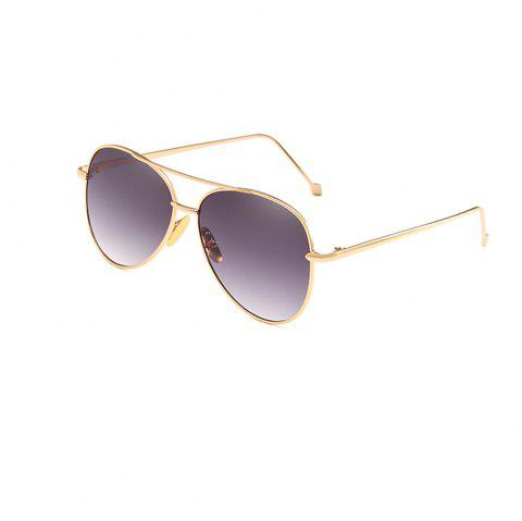 Oval Metal Sunglasses Women Fashion Glasses Brand Designer Retro Vintage Sunglasses - INDIGO