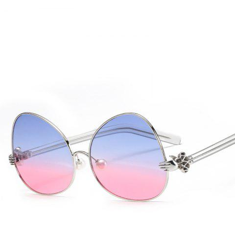 Oval Sunglasses Retro BlingBling Glasses Brand Designer Retro Vintage Sunglasses - BLUE