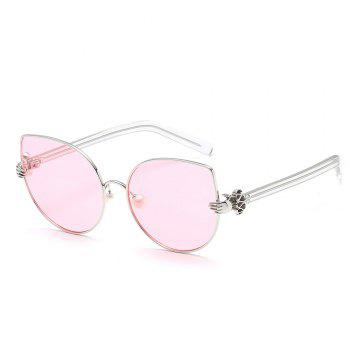 Pearl Oval Sunglasses Retro BlingBling Glasses Brand Designer Retro Vintage Sunglasses - PINK