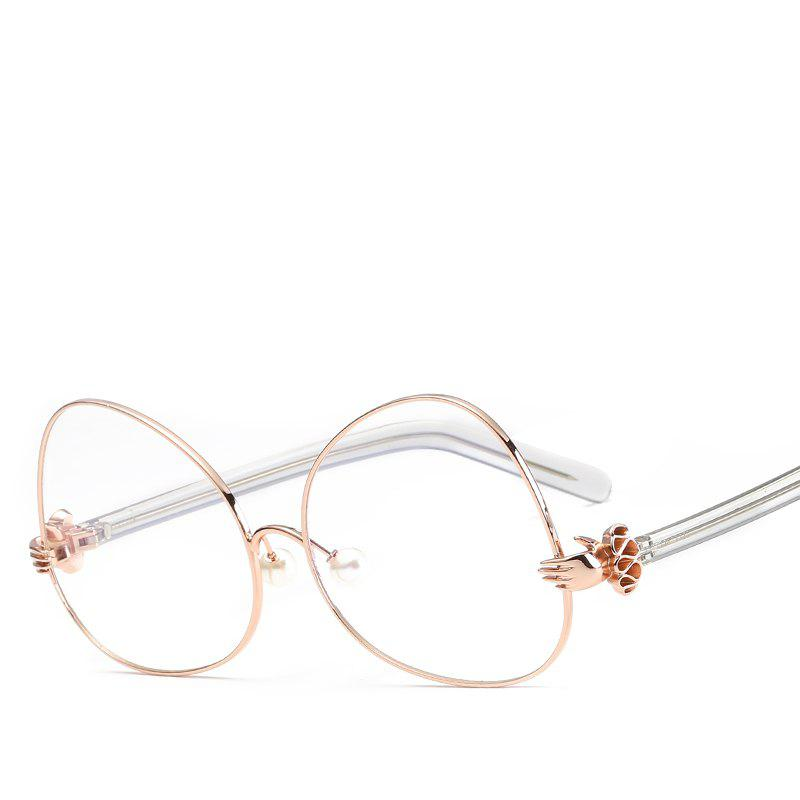 Oval Sunglasses Retro BlingBling Glasses Brand Designer Retro Vintage Sunglasses - ROSE GOLD