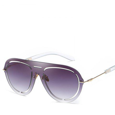 Oval Frameless Sunglasses Retro Glasses Retro Vintage Sunglasses - PURPLE