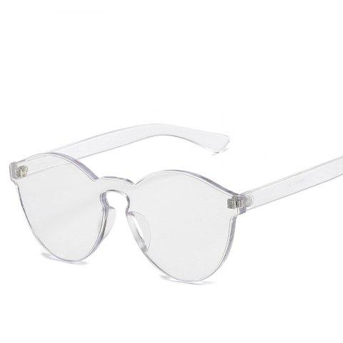 4602a38b78f Cat Eye Frameless Sunglasses Retro Glasses Retro Vintage Sunglasses - SILVER