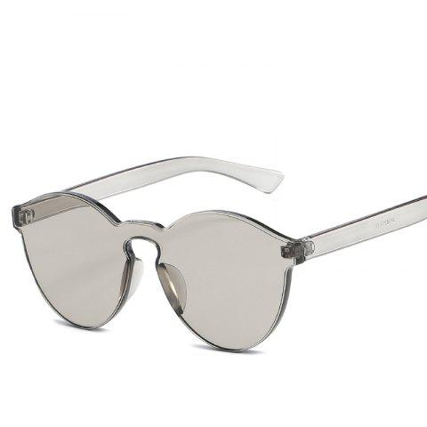 f6f7c497fdb Cat Eye Frameless Sunglasses Retro Glasses Retro Vintage Sunglasses - GRAY