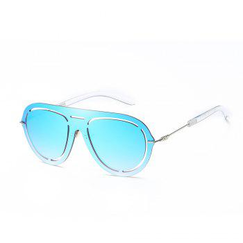 Oval Frameless Sunglasses Retro Glasses Retro Vintage Sunglasses - BLUE