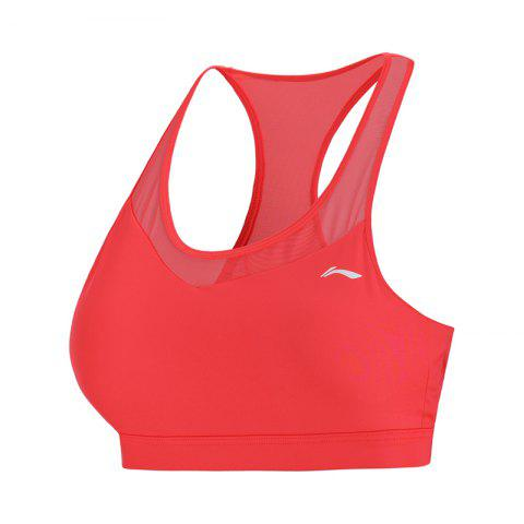 Li-Ning Performance Women Base Layer Walking Fitness Medium Support Tight Fit LiNing Sports Bra Tops AUBN036-5 - VIOLET RED XL