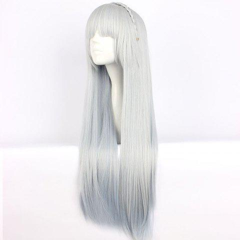 2019 Onmyoji Yuki Onna Gradient Color Cosplay Wig In Multicolor