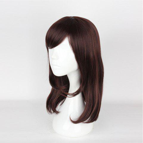 (Overwatch DVA) Cosplay Wig - DEEP BROWN 20INCH