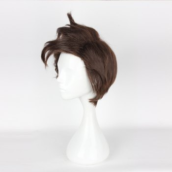 (Overwatch Tracer) Cosplay Wig - BROWN 14INCH