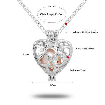 Women Stainless Steel Cube Pearl Necklace Charm Womens Beauty Jewelry Durable Necklace Gift -