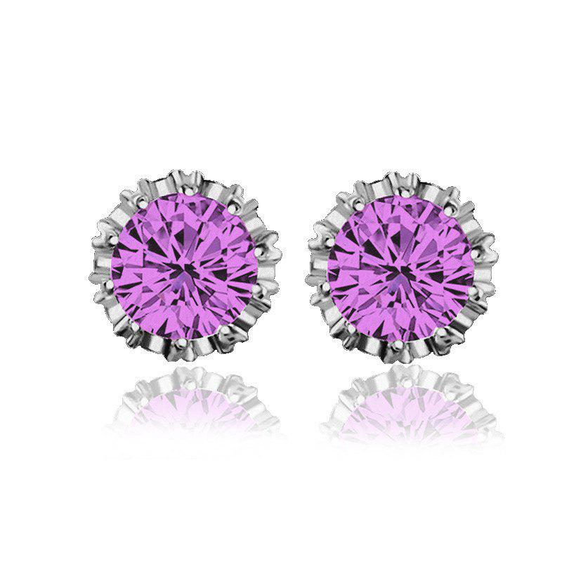 Women Stud Earrings Crystal Stud Earrings Women casual Party Earring Girls Gift Earrings - MAUVE