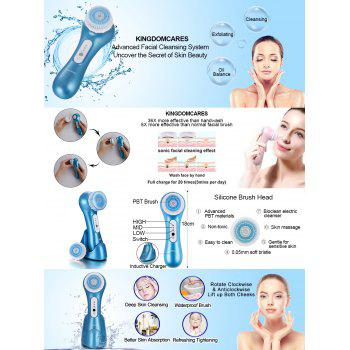 Electric Vibrating Sonic Facial and Body Cleansing Brush Face Brush Waterproof Skin Exfoliating Cleansing System - BLUE RIBBON