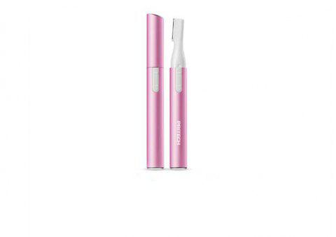 Portable Electric Lady Facial Trimmer Shaver Eyebrow Shaper Pen Hair Remover Removal Safety Beauty Knife (Pink) - PINK
