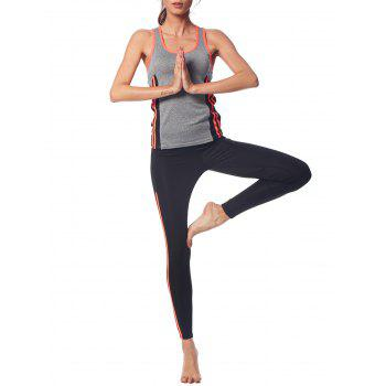 Women Mesh Quick-Dry Running Yoga Set - LIGHT HEATHER GREY 2XL