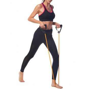 Fashion fixed Padded 2 Piece Set Yoga Set - BLACK L