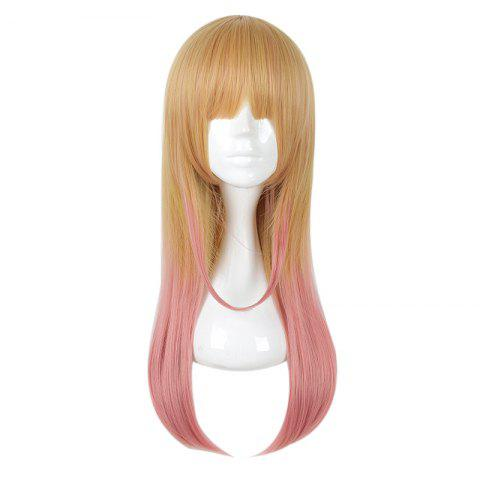 (Skirt no Naka wa Kedamono Deshita Kirishima Ryou) Gradient Color Cosplay Wig - multicolor A 28INCH