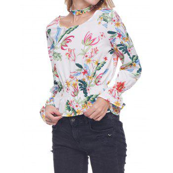 Colorfull Printed Tunic Top - FLORAL M
